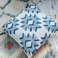 Blue Aztec Cushion - Hire by Lovestruck Weddings