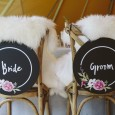 Bride and Groom Chair Signs made by Lovestruck Weddings