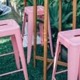 Pink Tolix Stool Hire - Lovestruck Weddings