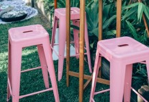 Pink Tolix Stool Hire - Lovestruck Weddings