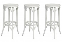 White Bentwood Stool Hire - Lovestruck Weddings