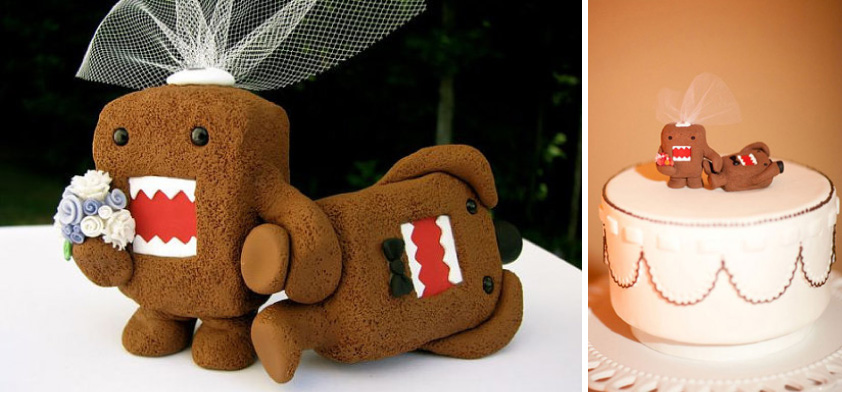 japanese wedding cake toppers domo combined lovestruck weddings and events 16588